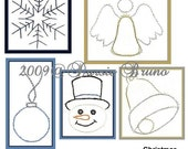 Christmas Miniatures III Paper Embroidery Pattern for Greeting Cards