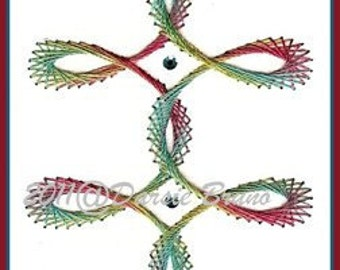 Swirl Border Embroidery Pattern for Greeting Cards
