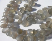 Grey Moonstone Faceted Pear Briolette Beads   6