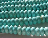 Magnesite Turquoise Smooth Rondelle Beads FULL STRAND