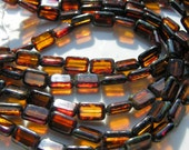 Topaz Picasso 12x8mm Window Table Cut Rectangle Beads   10