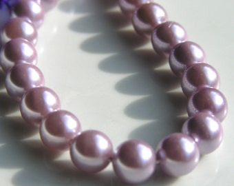 Pale Lavender South Sea Shell Pearl Beads  25