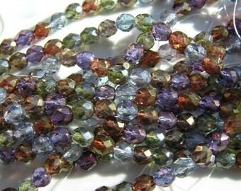 Lumi Mix 8mm Fire Polish Czech Glass Beads