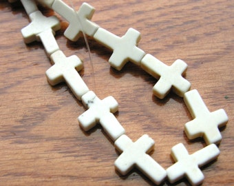White Turquoise Small Cross Beads   8