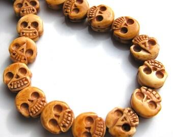 Bone Skull Beads   2