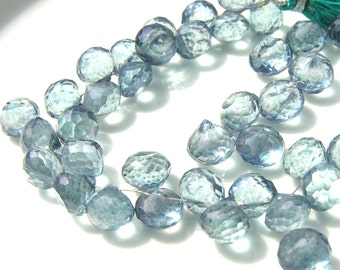 Blue Mystic Quartz Large Onion Briolettes  4