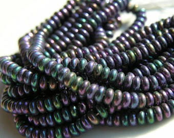 Amethyst Purple AB 50 6mm Round Faceted Fire Polish Czech Glass Beads
