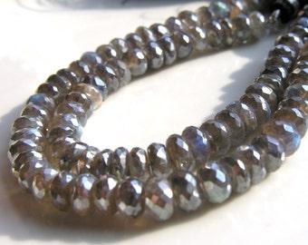 Mystic Labradorite Faceted Rondelle Beads   HALF STRAND