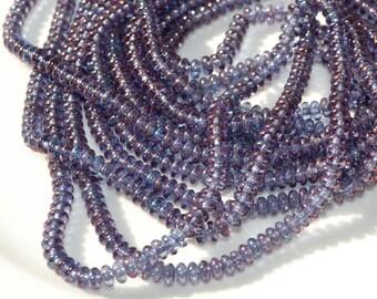 Lavender Luster 4mm Rondelle Beads   100