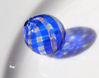 Venetian Glass Hand Blown Hollow Round Bead  ONE