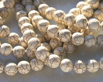 Turquoise 8mm Round Beads