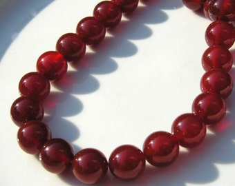 Carnelian 12mm Smooth Round Beads FULL STRAND