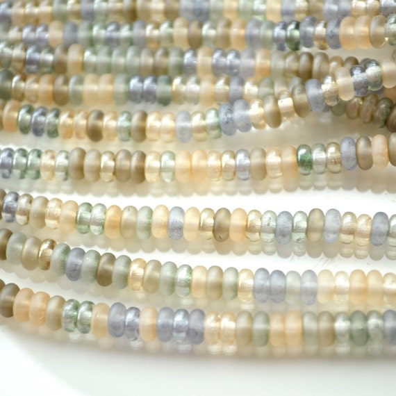 Beach Mix 4mm Thin Rondelle Beads   100