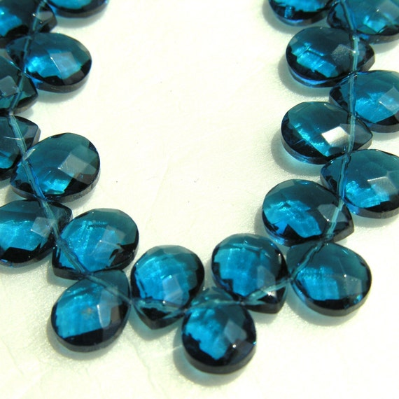 Montana Blue Faceted Glass Briolettes 10