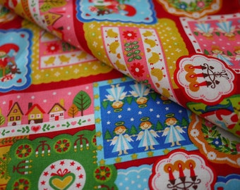 Kawaii Cosmos Christmas Patchwork Cotton - Last Piece
