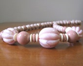 RESERVED for DMNC - Vintage 1970's Pink Chunky Beaded Necklace