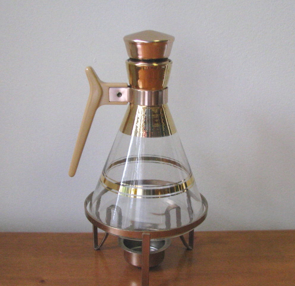 Vintage 1950 Corked Glass Coffee Carafe with by ...