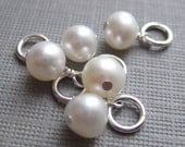 Add a Pearl - White Swarovski crystal pearl and Sterling Silver (AO009)