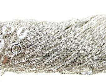 18 inch Sterling Silver Box Chain (AO015)