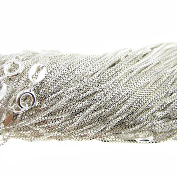 20 inch Sterling Silver Box Chain (AO016)