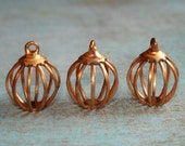 16 Vintage Copper Bird Cage or Bead Cages