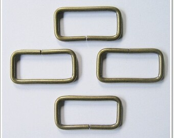 10 pcs Antique Brass Rectangle Ring Bag ( 2 inch)