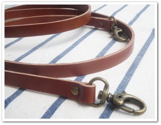Brown Leather Shoulder Strap For Bag 111