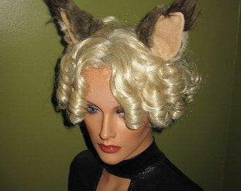 Lynx Cat Ears and Cat Tail- Custom -Anime, Cosplay, Furry, Fantasy, Burnng Man, Halloween