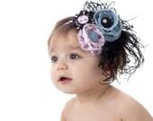 Shabby Frayed Flower Headband.