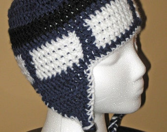 Crochet Doctor Who TARDIS Hat