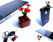 Modified Lego Flowers as iPhone iPod Dock Covers and Card Slide Opener