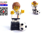 4GB USB Stick in complete Lego Minifigure German Soccer Player with showcase