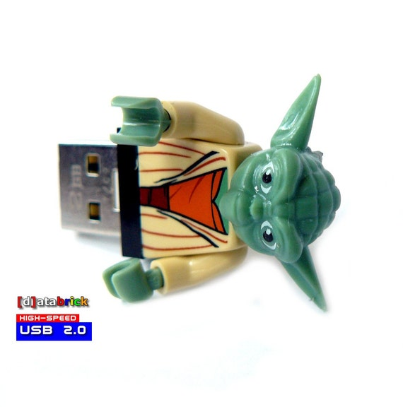 2GB Memory Stick in a original Lego Figure the green side of the power