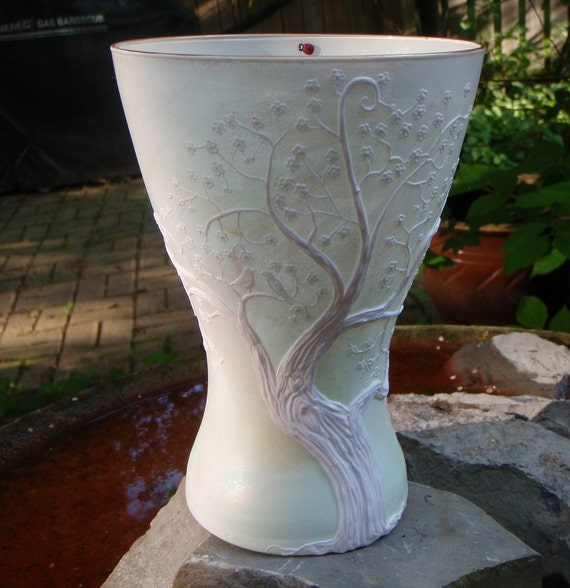 Unity Tree Recycled Glass Vase