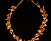 Exotic Copper Keishi Pearl Necklace