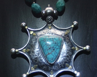 Sterling Silver Sultan's Star with Turquoise