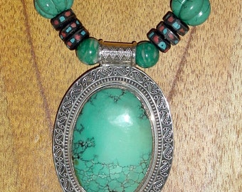 Asian Fusion Turquoise and Mala Beads