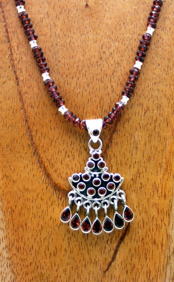 Hessonite Garnets and Sterling Silver