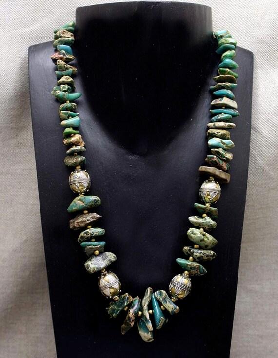 Aqua Terra Jasper and Afghani Beads