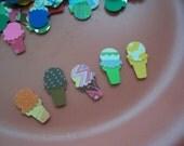 Supplies Scrap booking Card making- Paper Mini Ice cream You scream