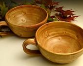 Stoneware Bowls-Nutmeg Brown Glaze