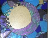 Handmade Mosaic Mirror Glitter Moon