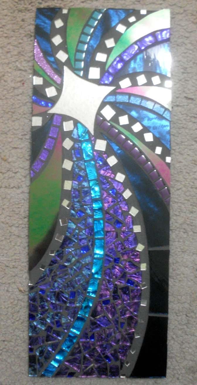 Celestial Handmade Mosaic Wall Hanging Shooting Stars