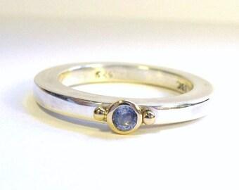 Cornflower Blue Sapphire Ring