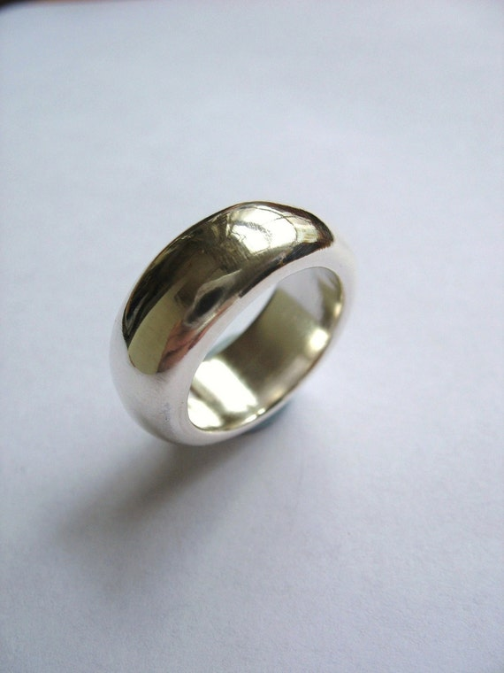 big bold sterling silver ring