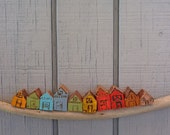 10 little wood houses - for LISA only