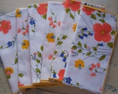 six bright and  cheery vera linen napkins