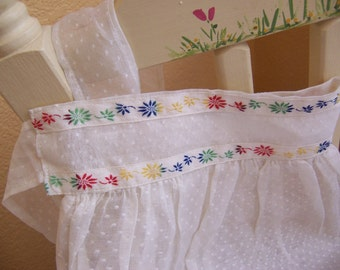 fun and cute dotted swiss apron