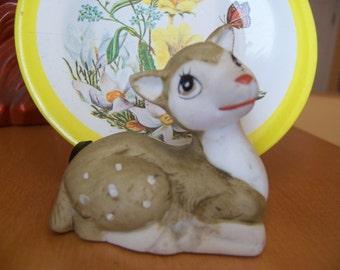 tiny little porcelain deer figurine