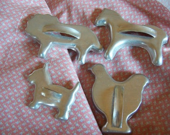 four fun aluminum cookie cutters